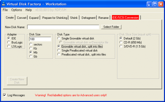 Virtual Disk Factory